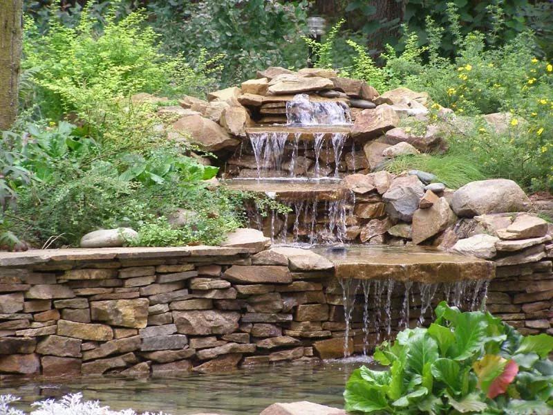 Альпийские горки с водопадом ландшафтный дизайн