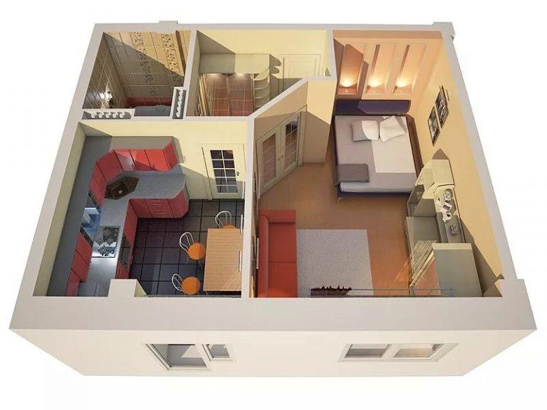Дизайн однокомнатной квартиры старой планировки