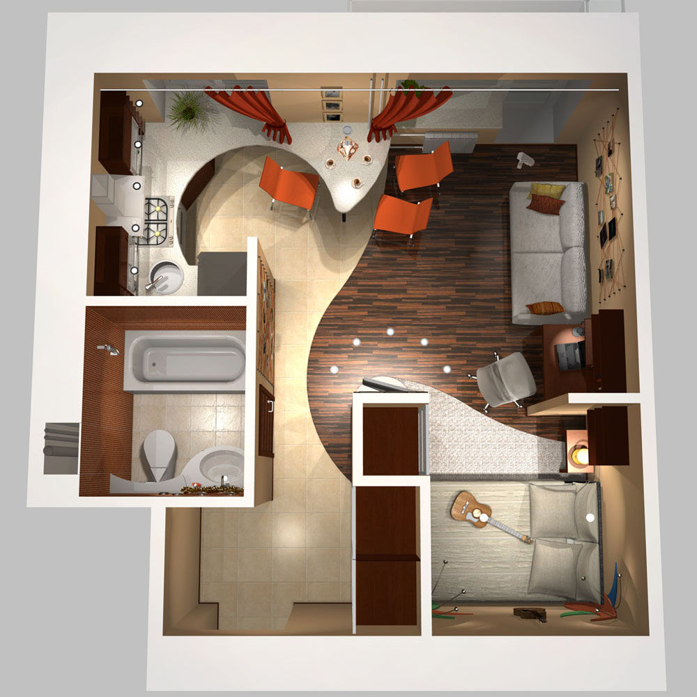 Дизайн хрущевки 1-комнатных квартир