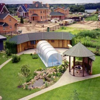 ландшафтный дизайн загородного дома 10 соток фото