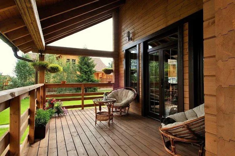Дизайн террасы частного дома своими руками фото 15