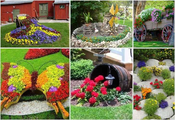 Дизайн сада из подручных материалов видео 49