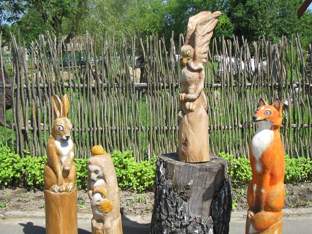 Скульптура из дерева на даче своими руками