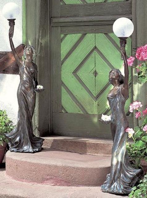 деревянные скульптуры для сада