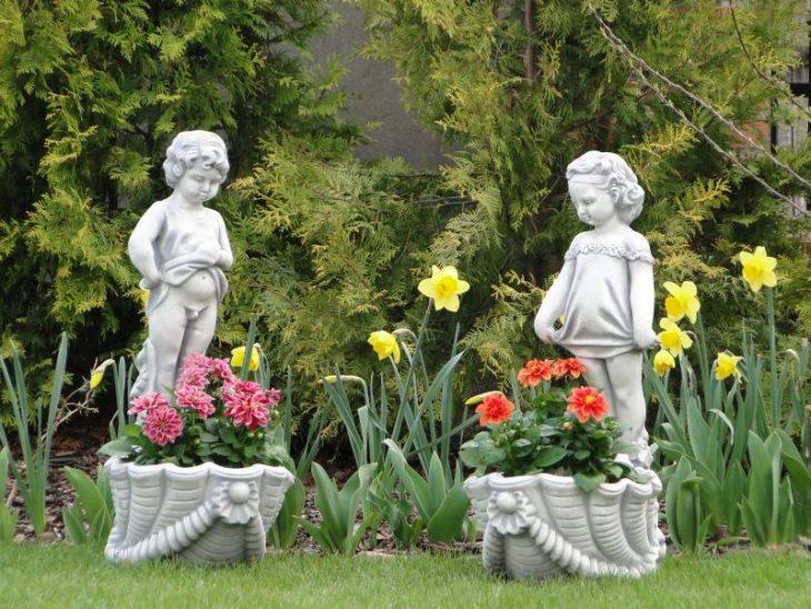 Декоративные скульптуры для сада 55 фото вариантов