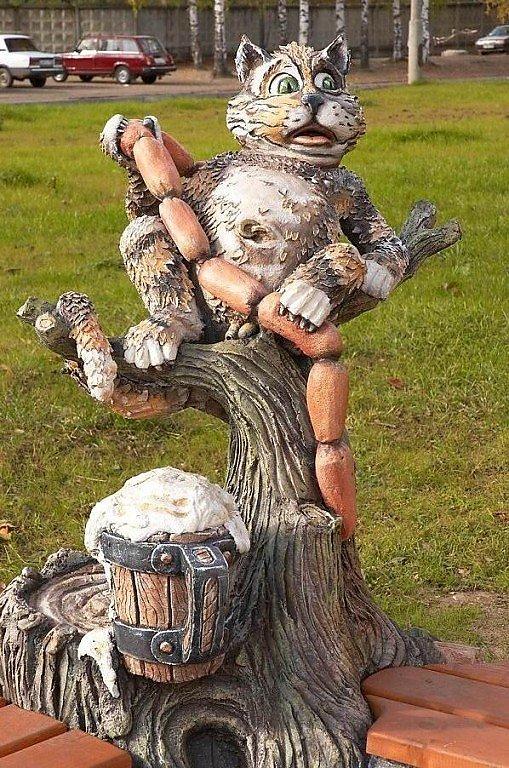 Красивые садовые скульптуры своими руками 48