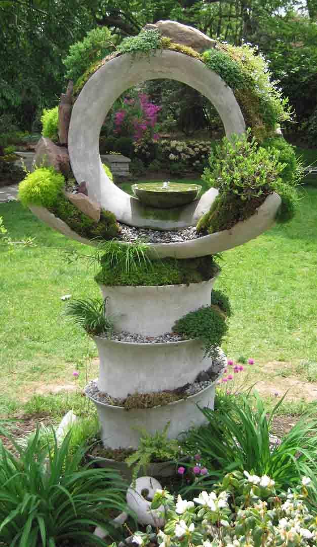 Красивые садовые скульптуры своими руками 161