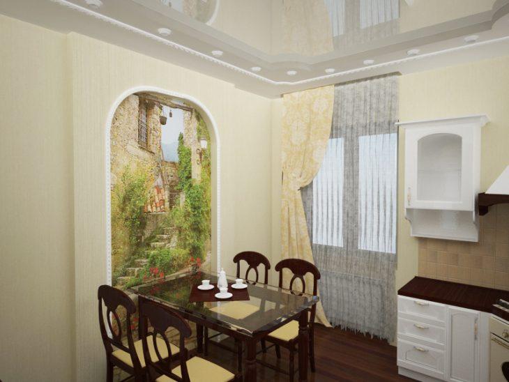 фрески в интерьере гостиной фото