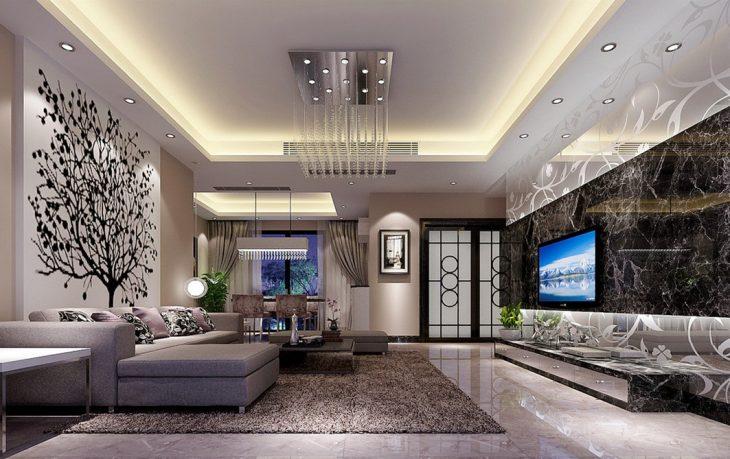 дизайн интерьера гостиной 2019