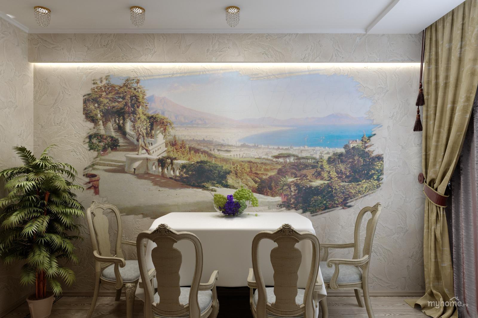 Фреска на стене - 50 фото необычного оформления дизайна