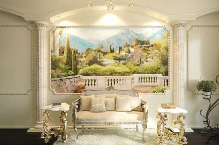 фрески в интерьере квартиры