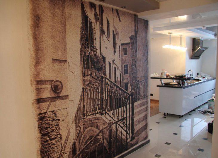 Современные фрески в интерьере квартиры