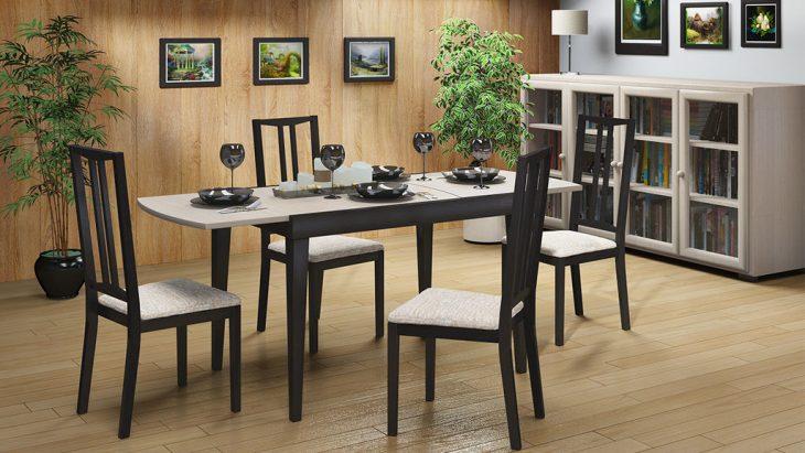 стеклянные столы и стулья для кухни