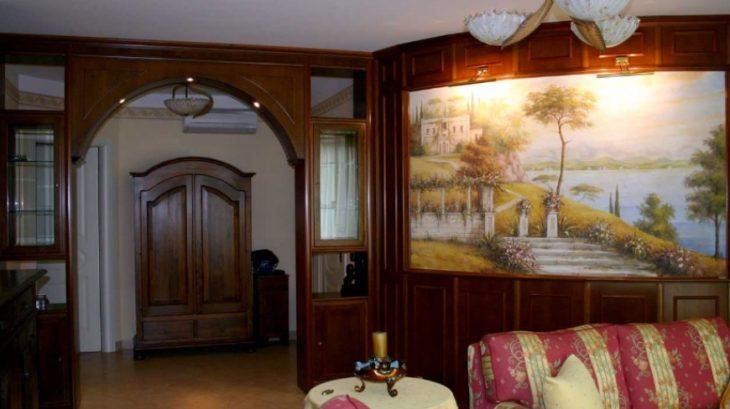 Фрески на стене в интерьере 65 дизайнерских идей