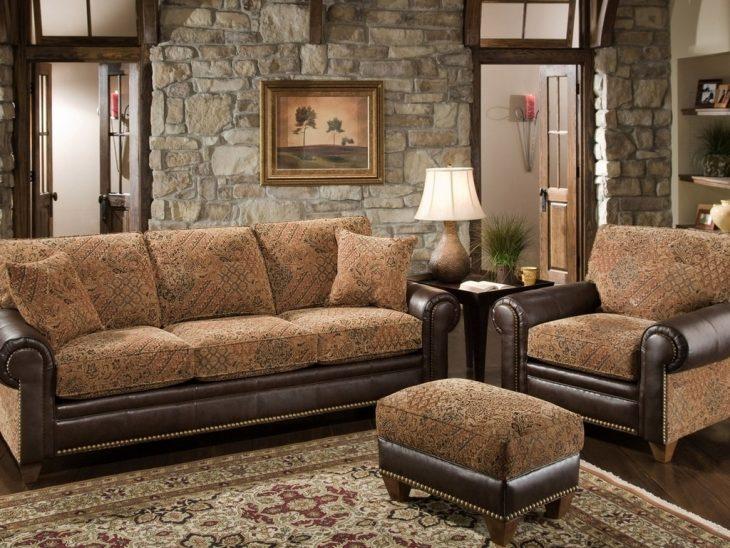 мягкая мебель в интерьере гостиной
