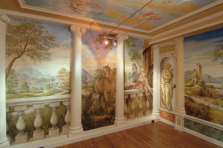 фрески в интерьере фото