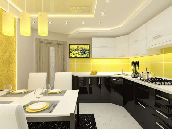 интерьер кухни однокомнатной квартиры