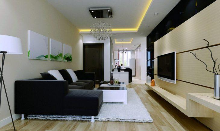 современный интерьер маленькой квартиры