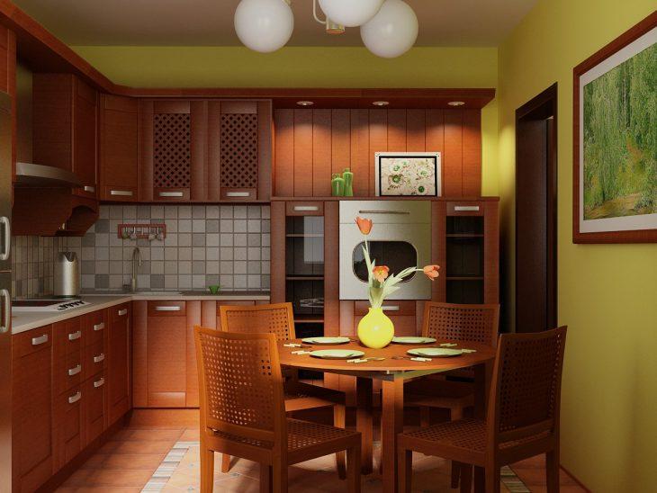 интерьер кухни в обычной квартире