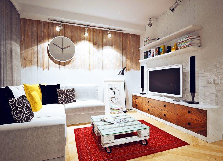 интерьер студии в скандинавском стиле