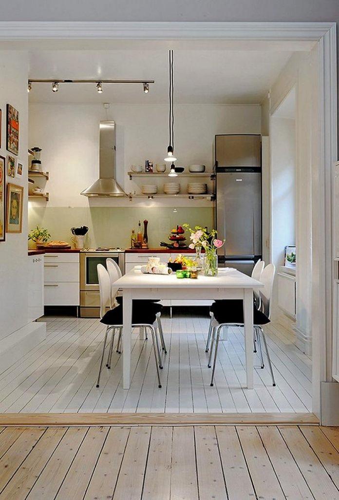 интерьер угловой кухни в квартире