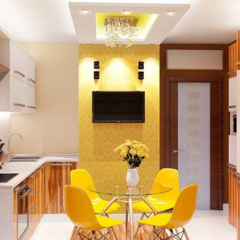 современный интерьер кухни в квартире 2018