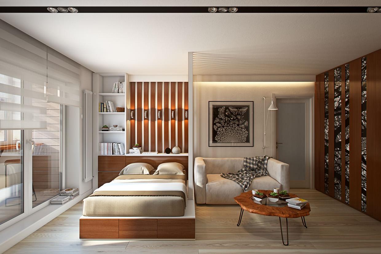 Дизайн 1 комнатной квартиры 2018 современные идеи