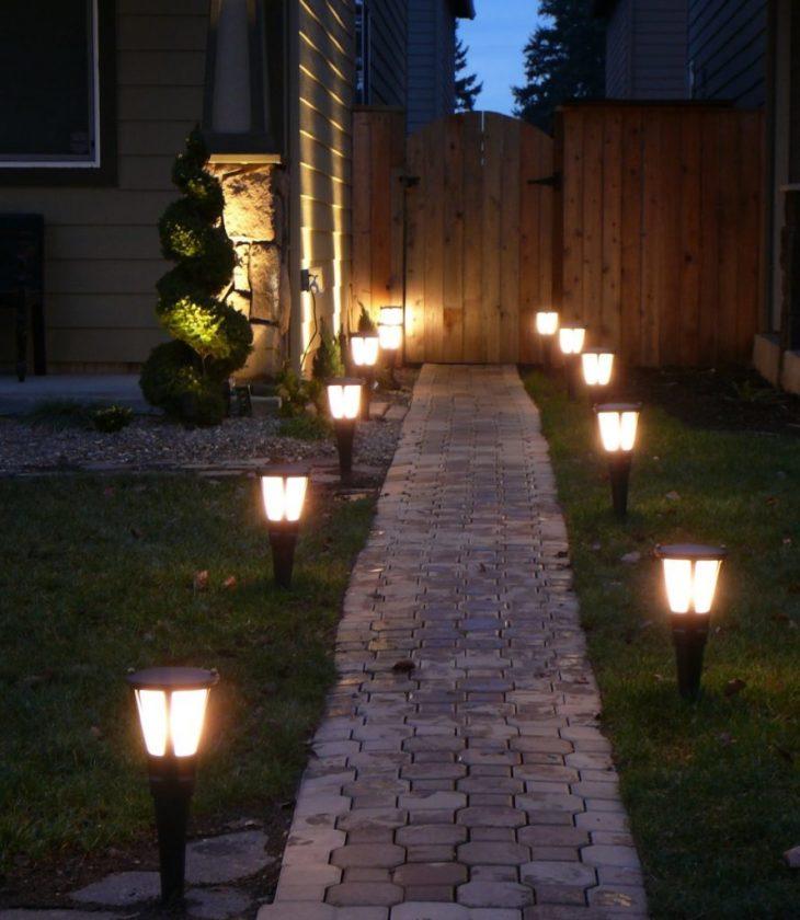 Освещение загородного дома 75 фото дизайна участка