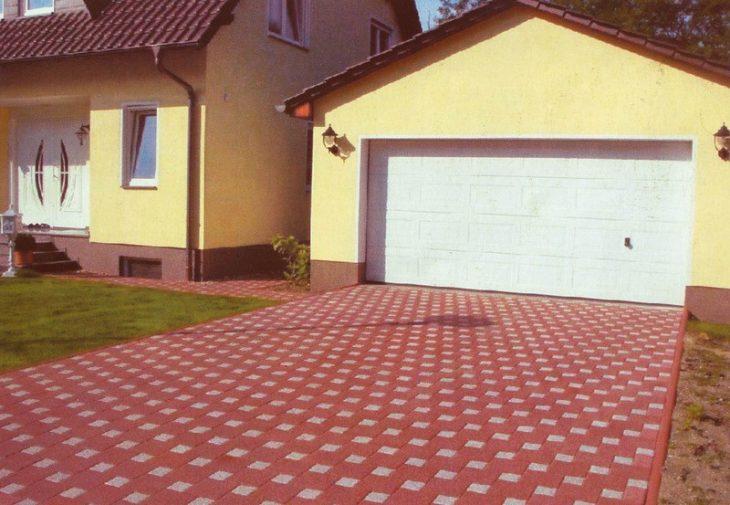 тротуарная плитка вокруг дома