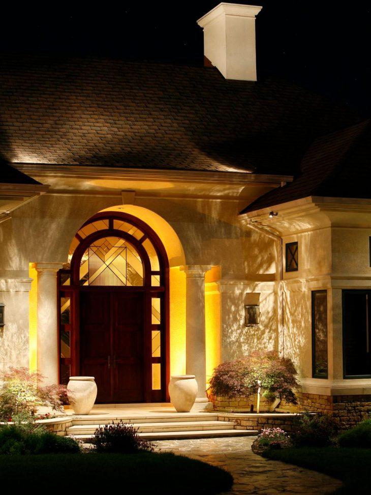 декоративное освещение дома