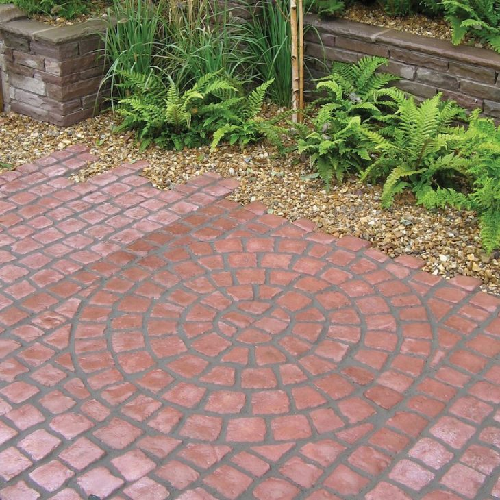 Тротуарная плитка во дворе дома 75 фото идей