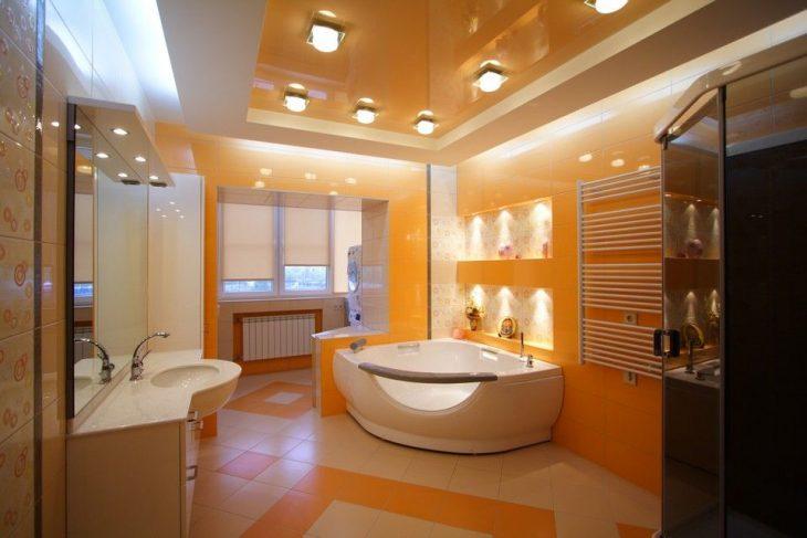 Потолок в ванной комнате 65 фото вариантов дизайна