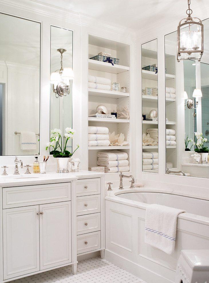 шкаф с подсветкой в ванную комнату