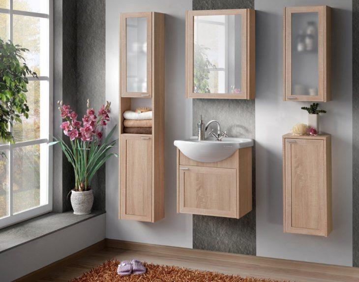 шкаф пенал для ванной комнаты