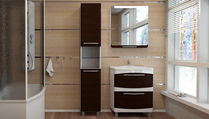 шкаф в ванную комнату напольный