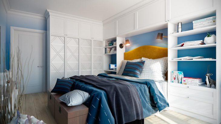 дизайн спальни в скандинавском стиле фото