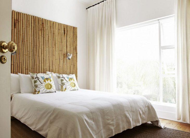 скандинавский стиль шторы в спальню