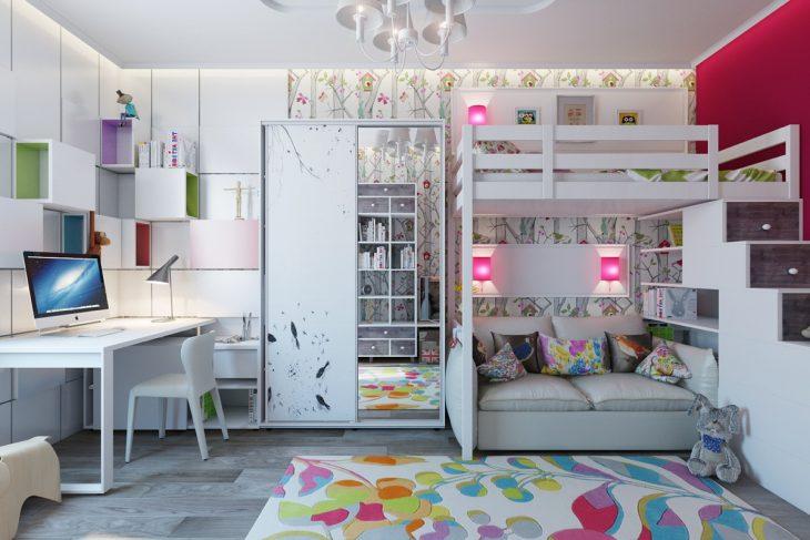 комната с двухъярусной кроватью