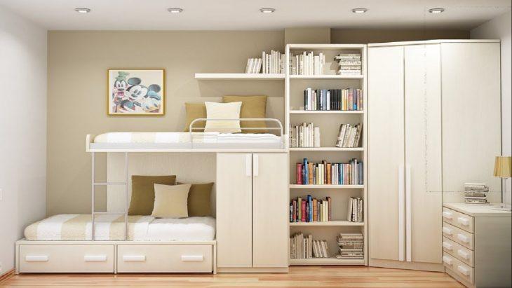 двухъярусная кровать с лестницей ящиками