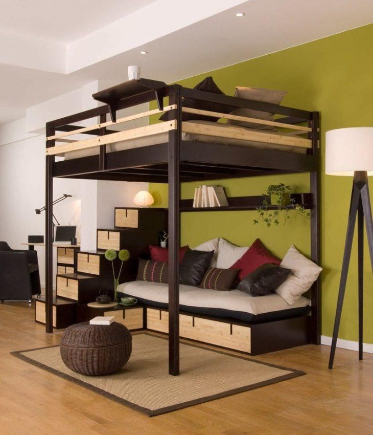 двухъярусная кровать с ящиками