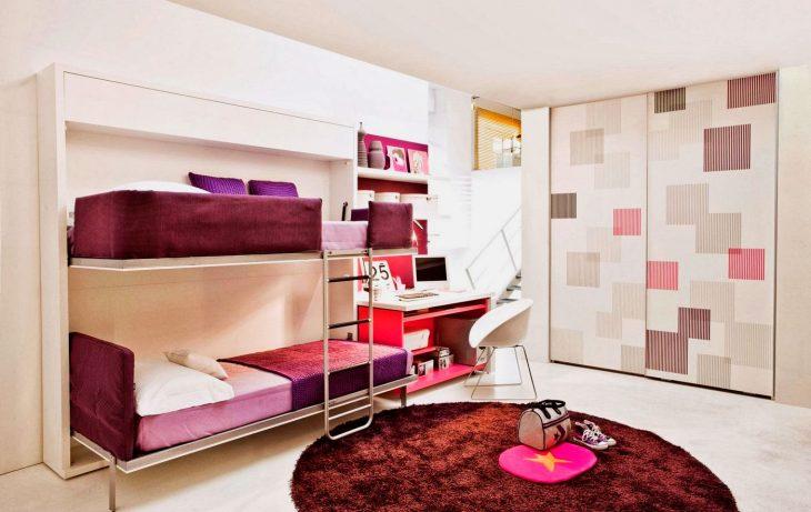 дизайн двухъярусной кровати