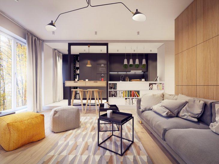 дизайн квартиры студии с одним окном