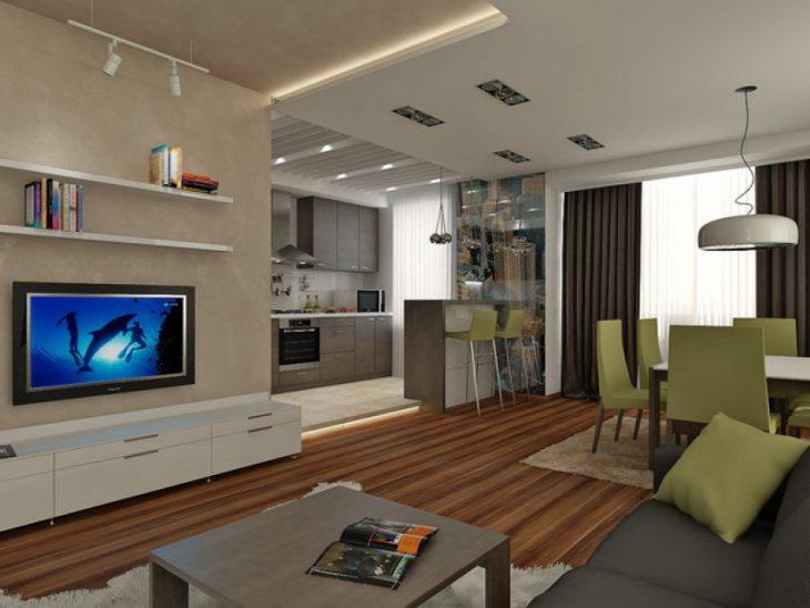 дизайн квартиры студии с балконом