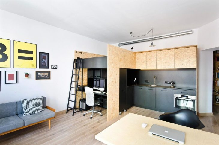 дизайн квартир студий прямоугольных