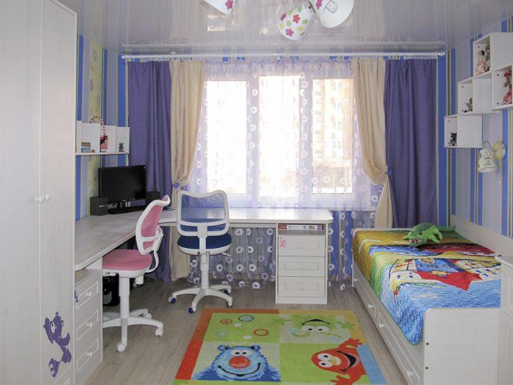 планировка детской комнаты для разнополых детей