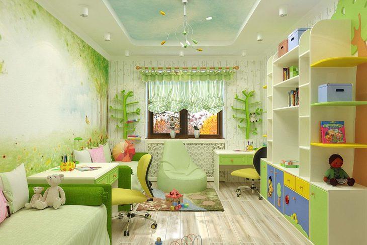мебель в детскую комнату для разнополых детей