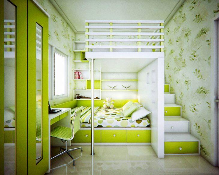 узкая детская комната для двоих разнополых детей