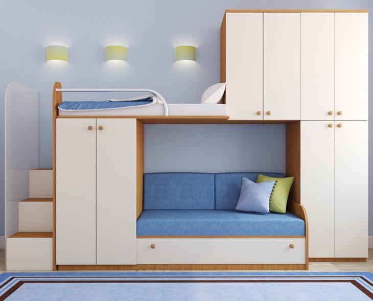 Дизайн детской комнаты для двух разнополых детей - 80 фото