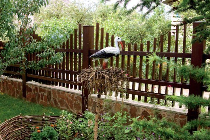 установка садового забора
