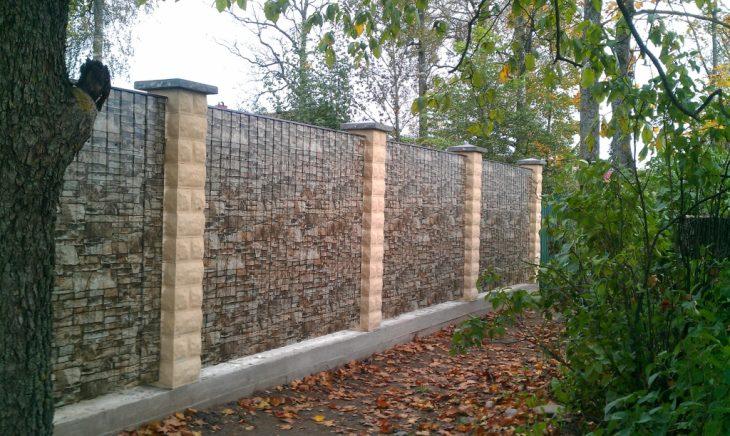 садовый забор для клумб